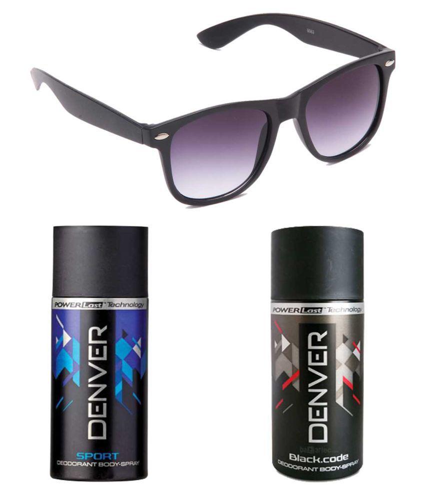 Denver Deodorant Combo with Black Wayfarer