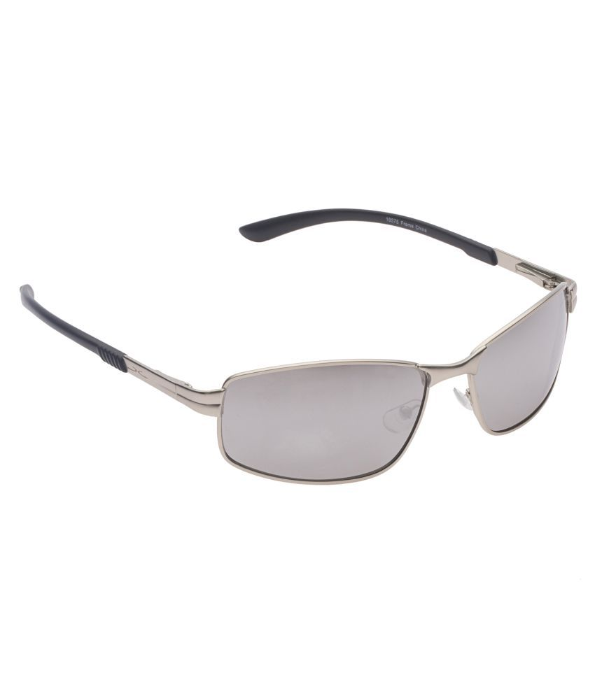 a59fa8e4f8e ... Vast Silver Rectangle Sunglasses ( 18575 C27 Smock White Mirror ) ...
