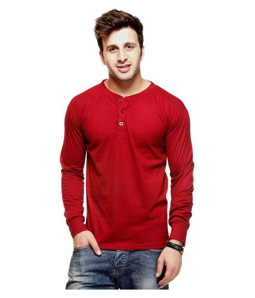 Eposch Red Henley T-Shirt