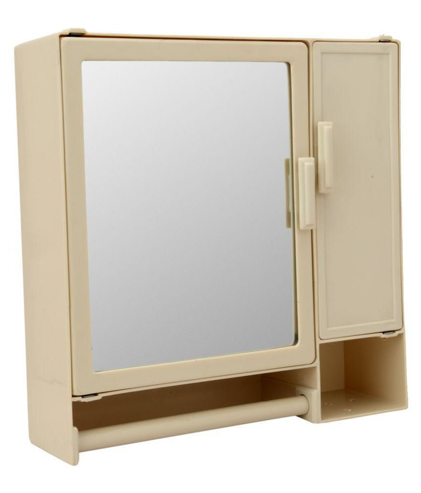 Buy Zahab Action Two Door Mirrored Plastic Bathroom Cabinet Online ...