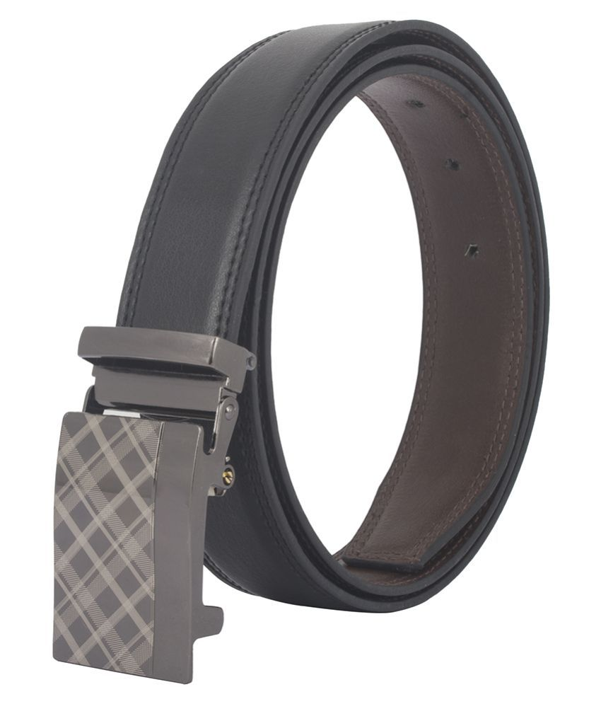 Chisel Black Faux Leather Formal Belts