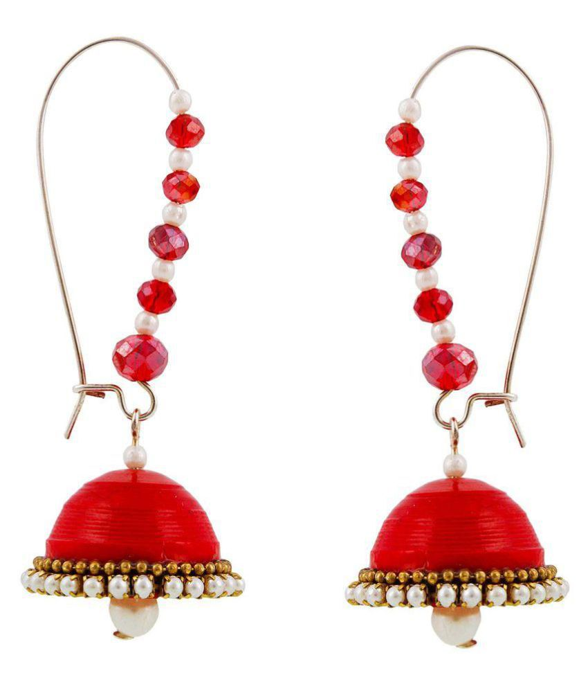 Creative_Studio Red Jhumkis
