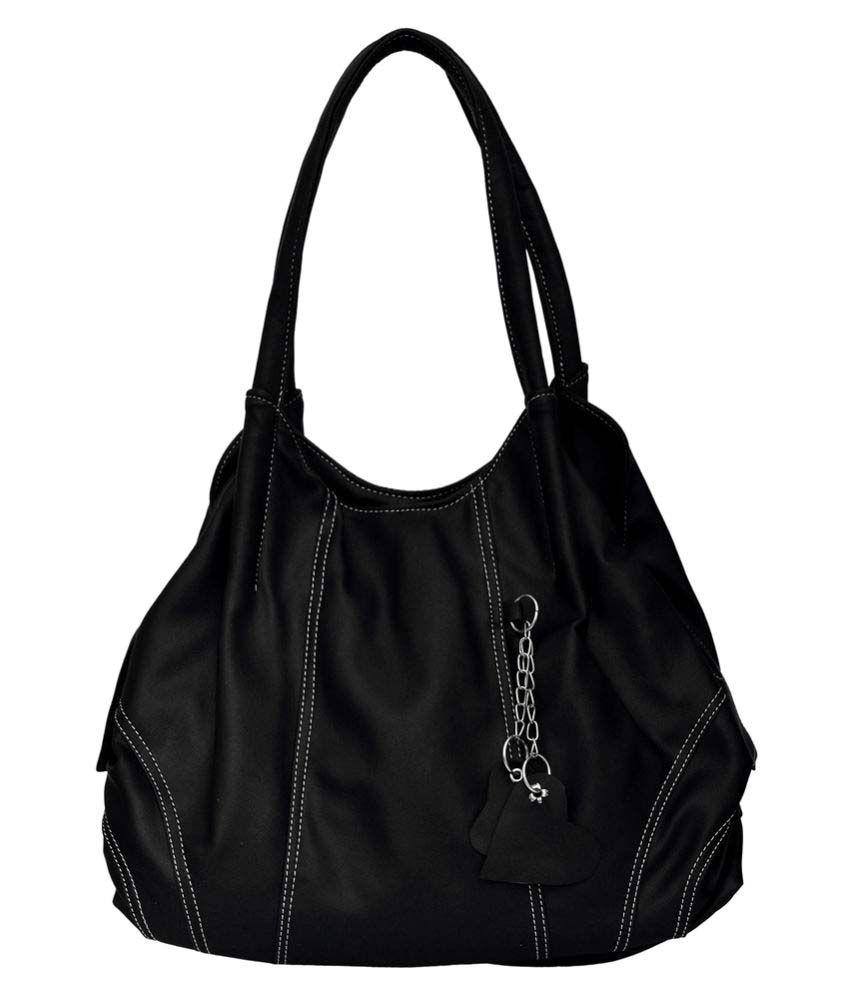 JH Hand Bag Black P.U. Handheld