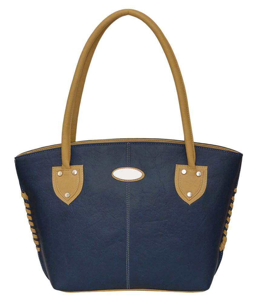 JH Hand Bag Blue P.U. Shoulder Bag