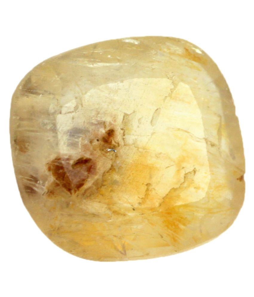 Nirvana Gems IGI Yellow Sapphire Precious Gemstone
