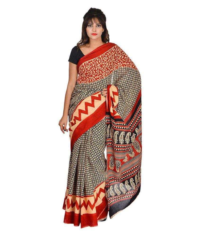 Khatri Creations Multicoloured Cotton Saree