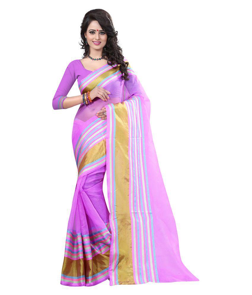 LAAZREE FASHION Pink Bhagalpuri Silk Saree