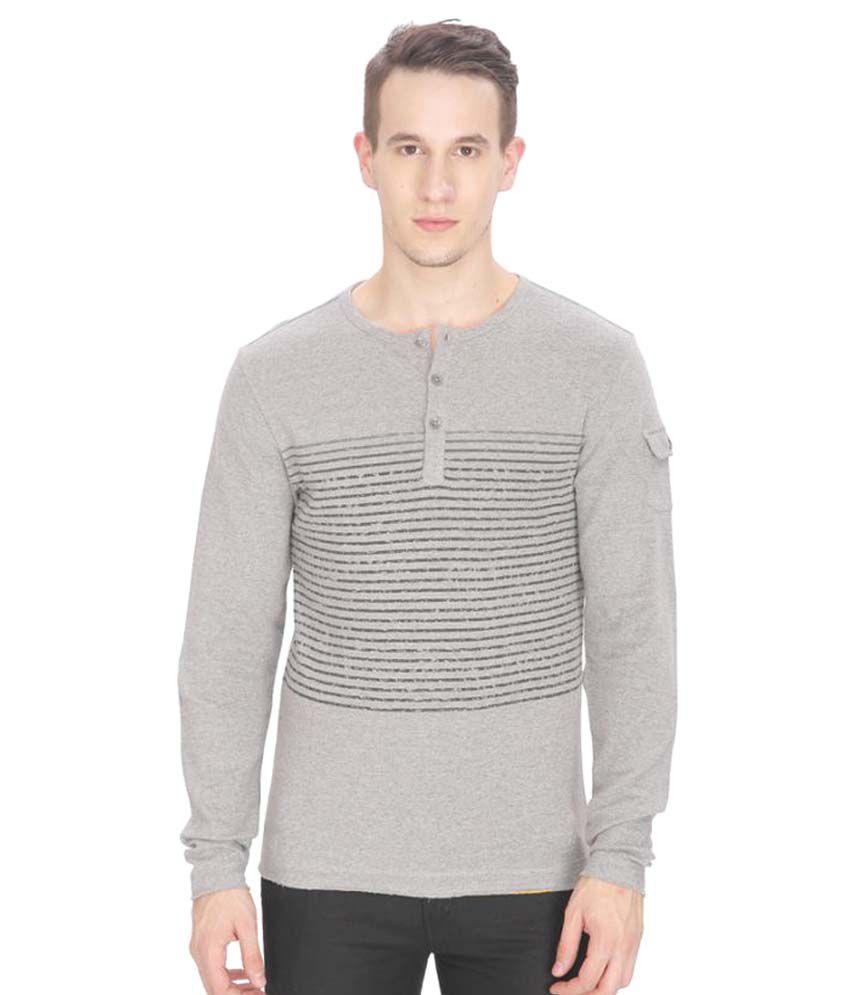 Leo Sansini Grey Henley T-Shirt
