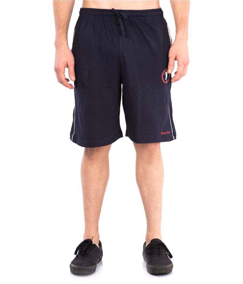 VIP Frenchie Navy Cotton Walking Shorts Single