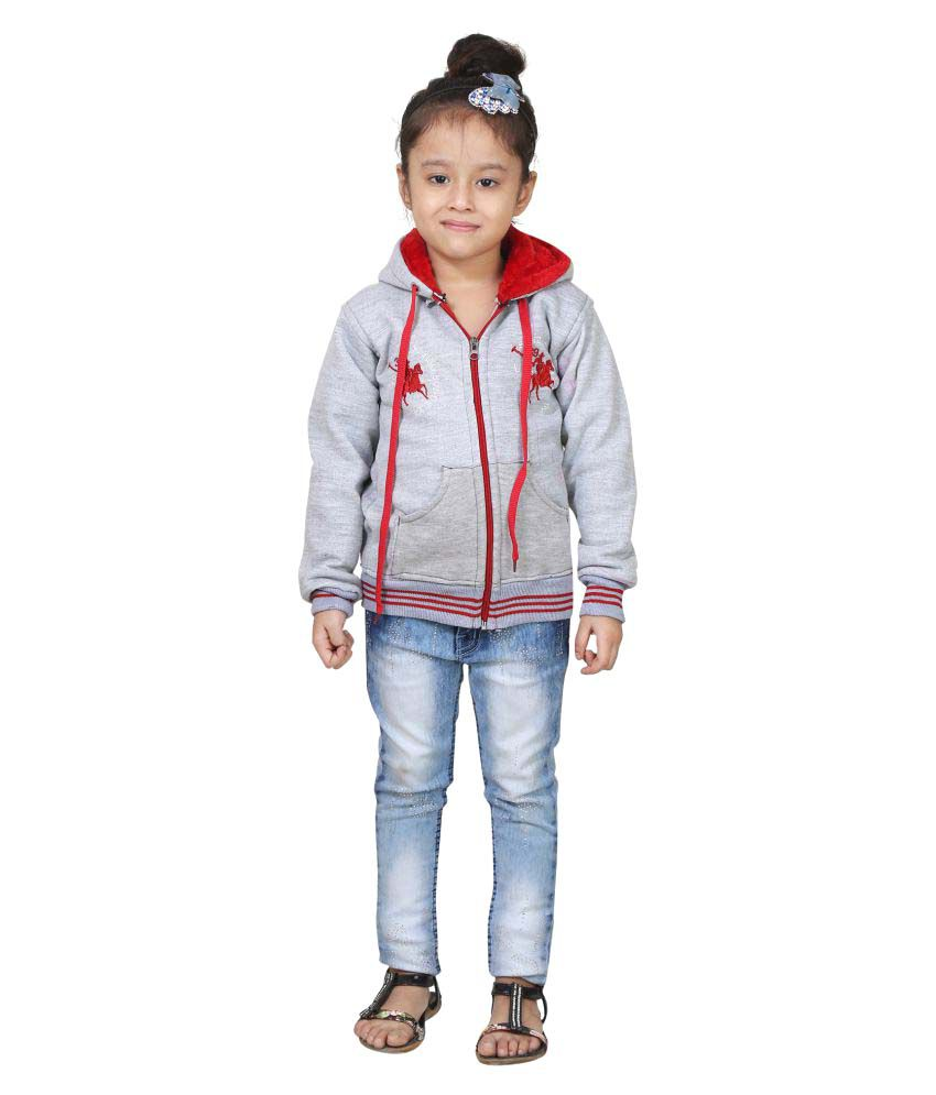 Qeboo Grey Wollen Winter Jacket