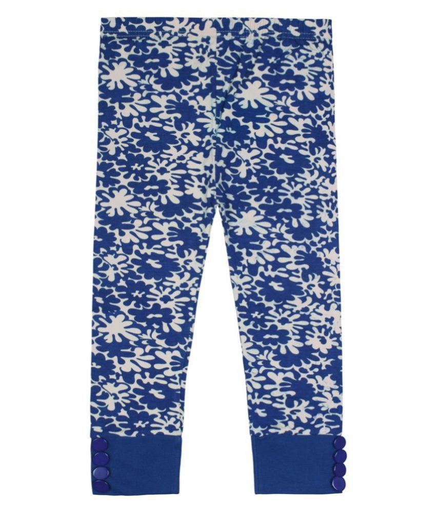 Jazzup Multicolour Cotton Printed Capri For Girls