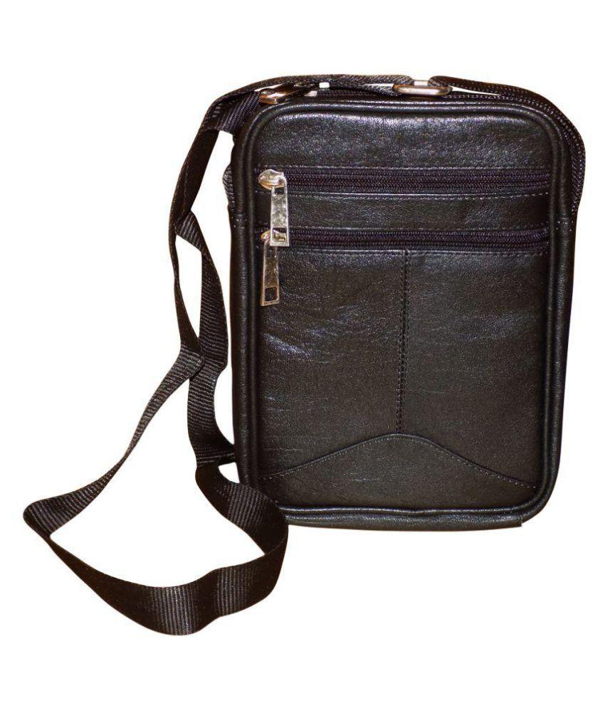 Style 98 Stylish Black Leather Office Messenger Bag