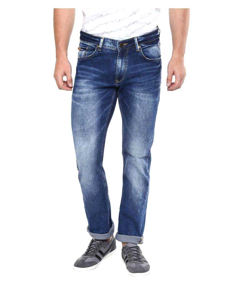 Entice Jeans Blue Slim Faded