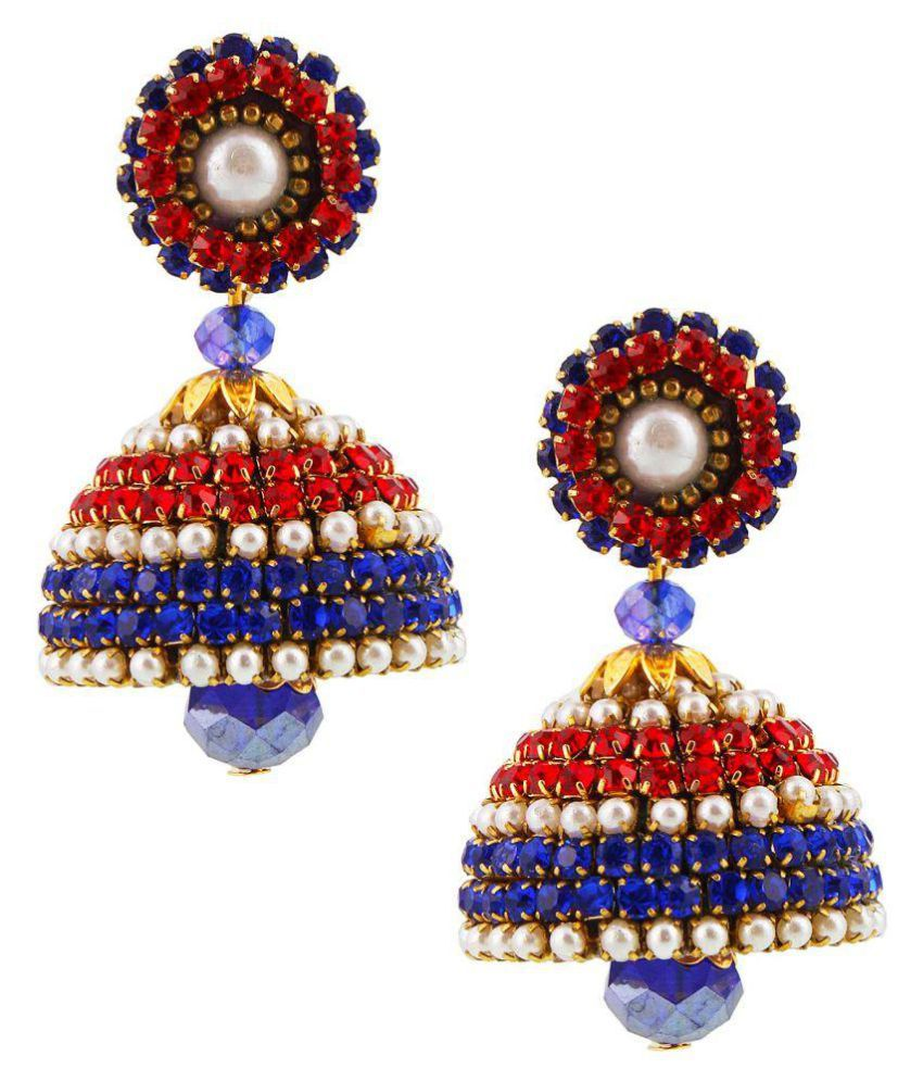 Creative_Studio Handcrafted Artificial Chain Jhumka