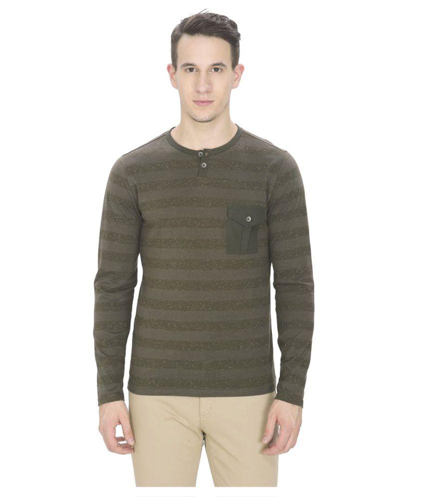 Leo Sansini Green Henley T-Shirt