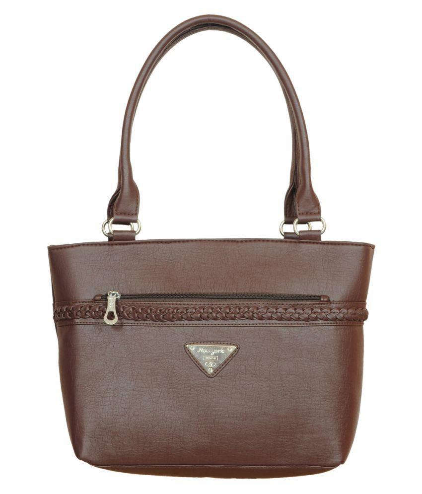 Adhaans Brown Artificial Leather Shoulder Bag