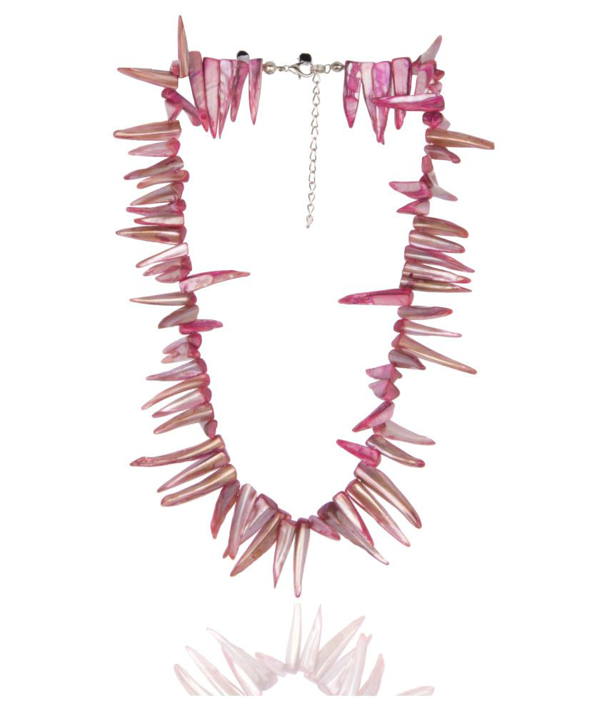 Diva Walk Pink Alloy Necklace