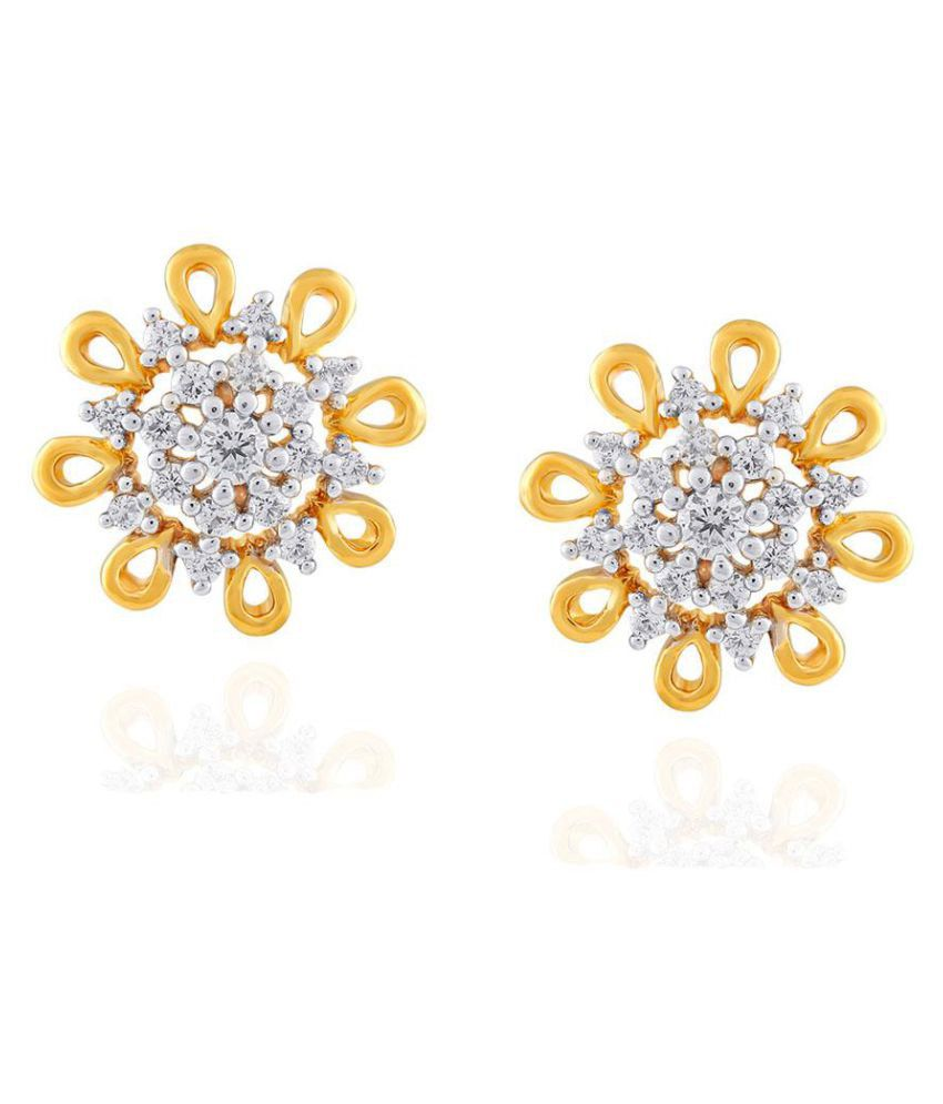 Nakshatra 18k BIS Hallmarked Yellow Gold Diamond Studs