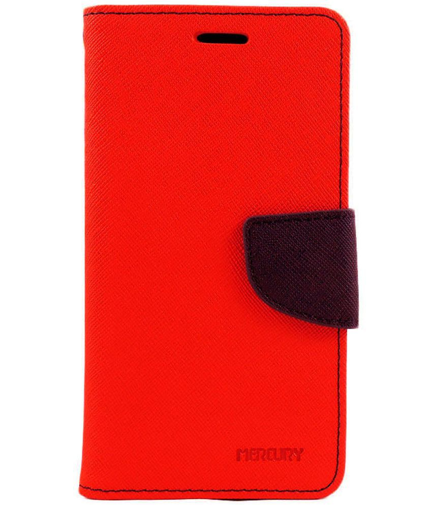 Samsung Galaxy Grand Duos Flip Cover by Hutz - Red