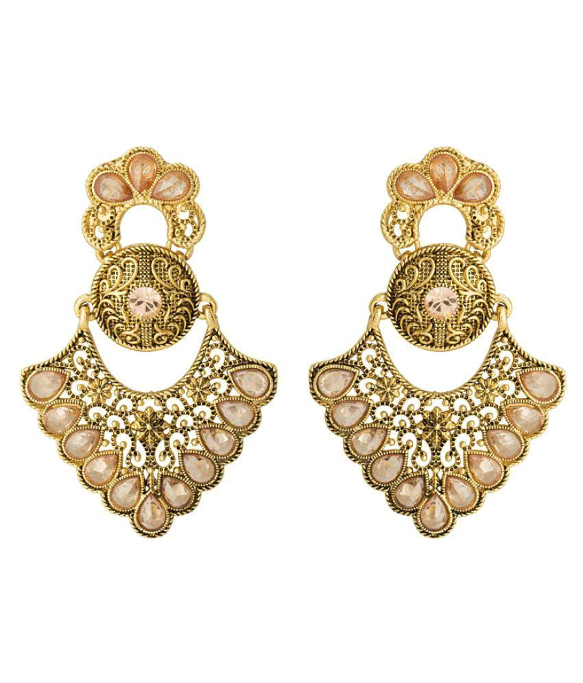 Voylla Amazing CZ Embellished Earrings