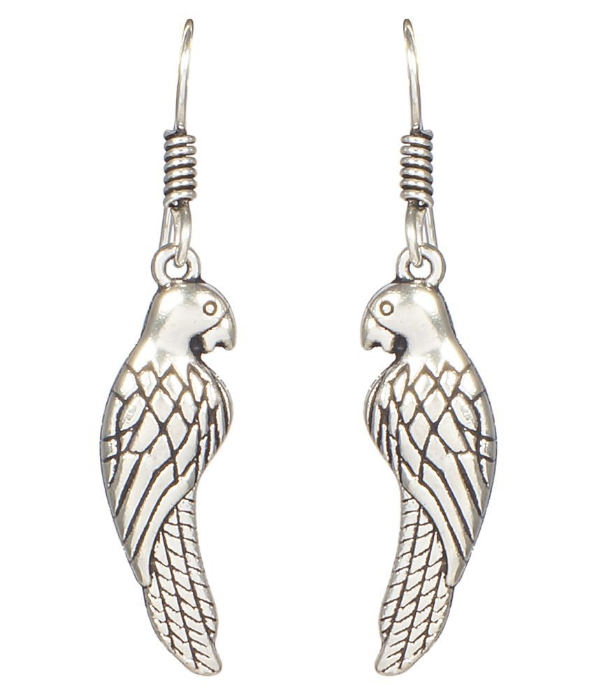 CTW Silver Alloy Hangings Earrings
