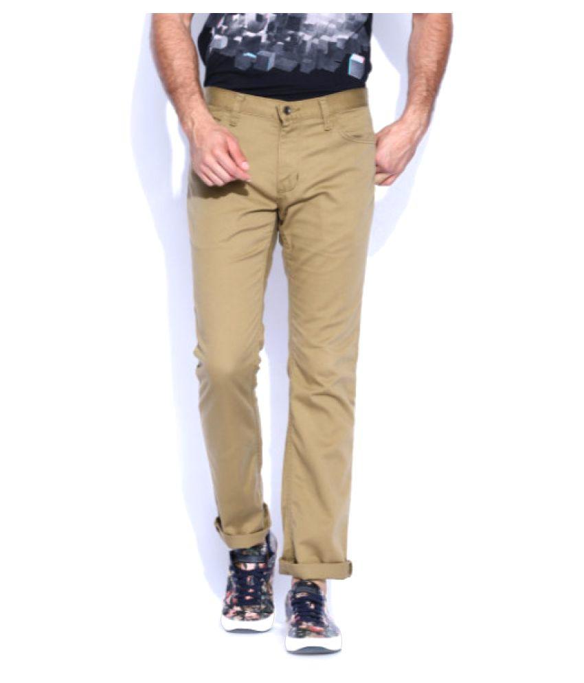 Vans Beige Slim Flat Trouser