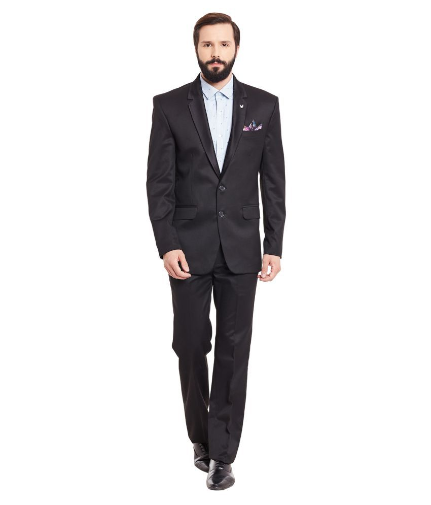 Canary London Black Solid Formal Suit