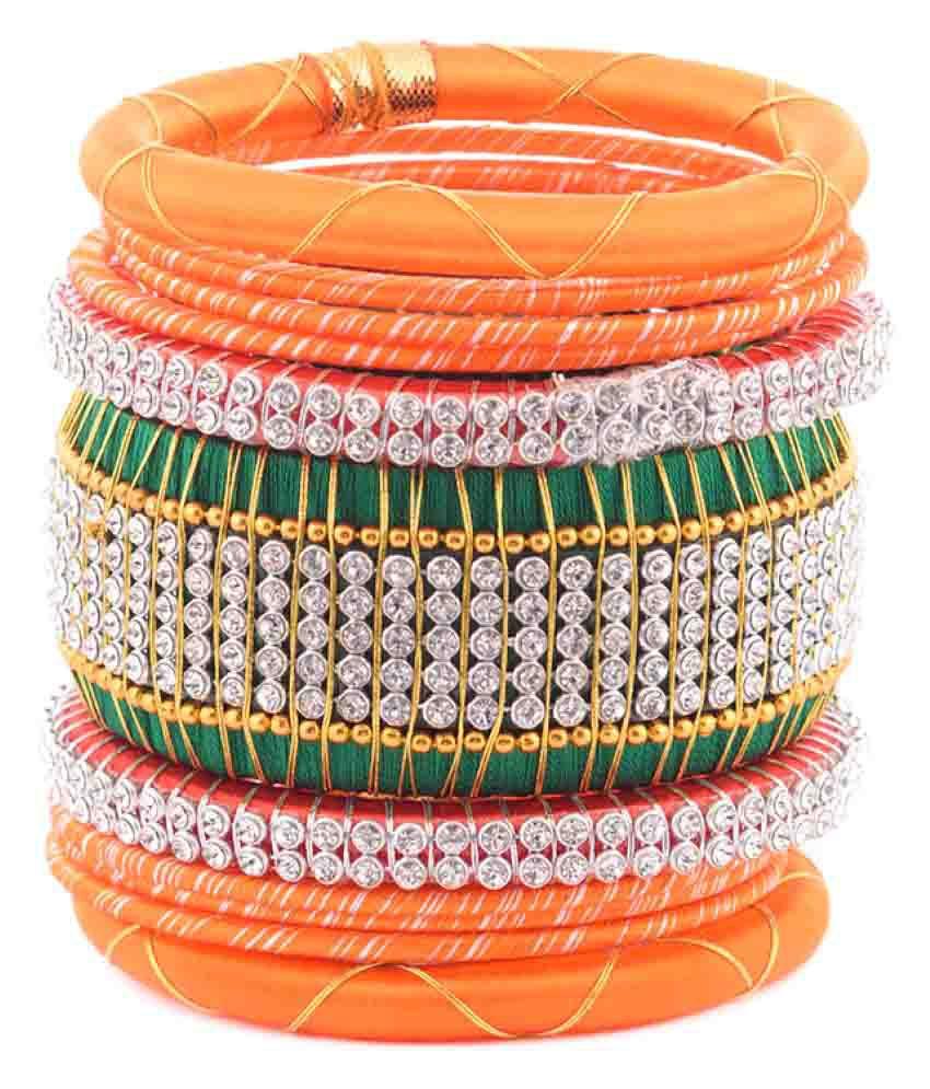 Kuhuk Plastic Bangle Set (Pack of 11)