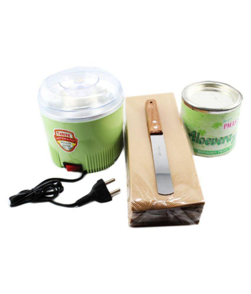 Aloevera mansoon Free Wax 600mL + 95 Waxing Strips +  Waxing Knife Spatula + Automatic Wax Oil Heater Combo Pack