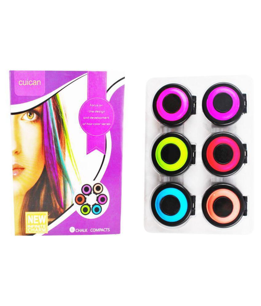 Temporary Hair Colour Chalk With 6 Colors Chalk Trendy Fashionable