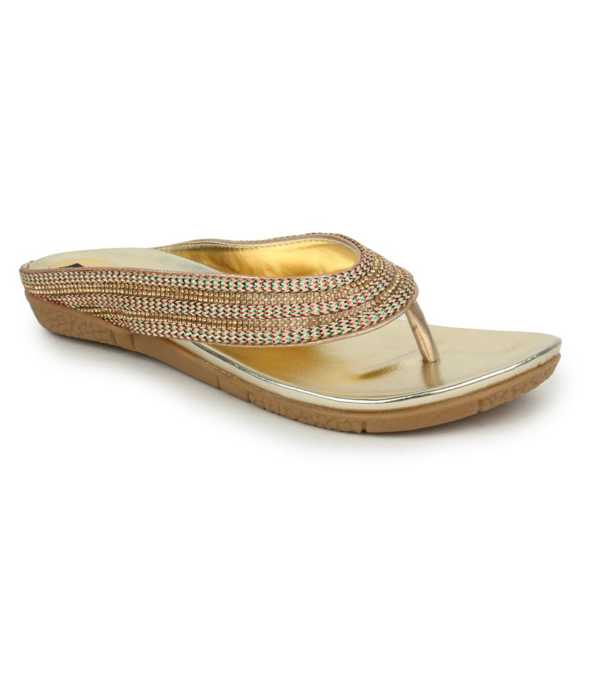 Funku Fashion Gold Flats