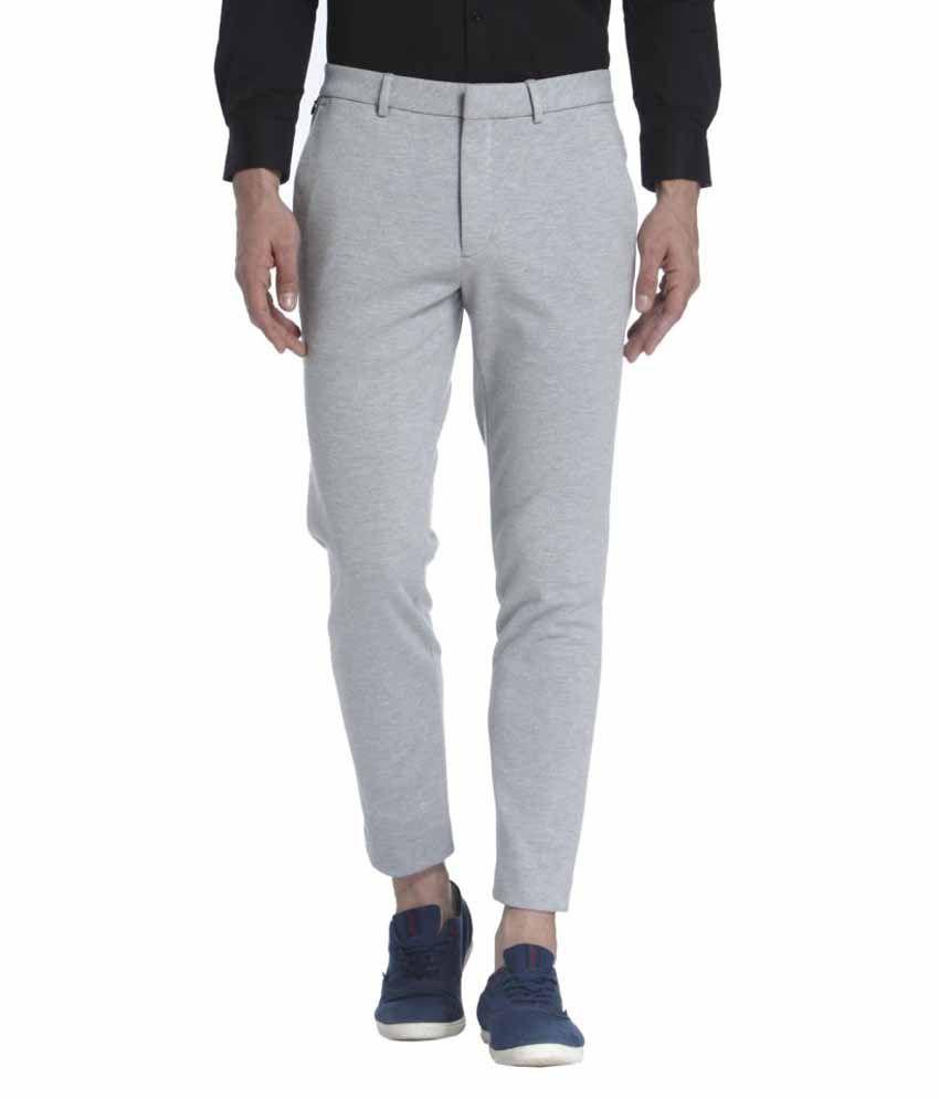 Jack & Jones Grey Slim Flat Trouser