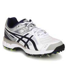 Asics White Cricket Shoes