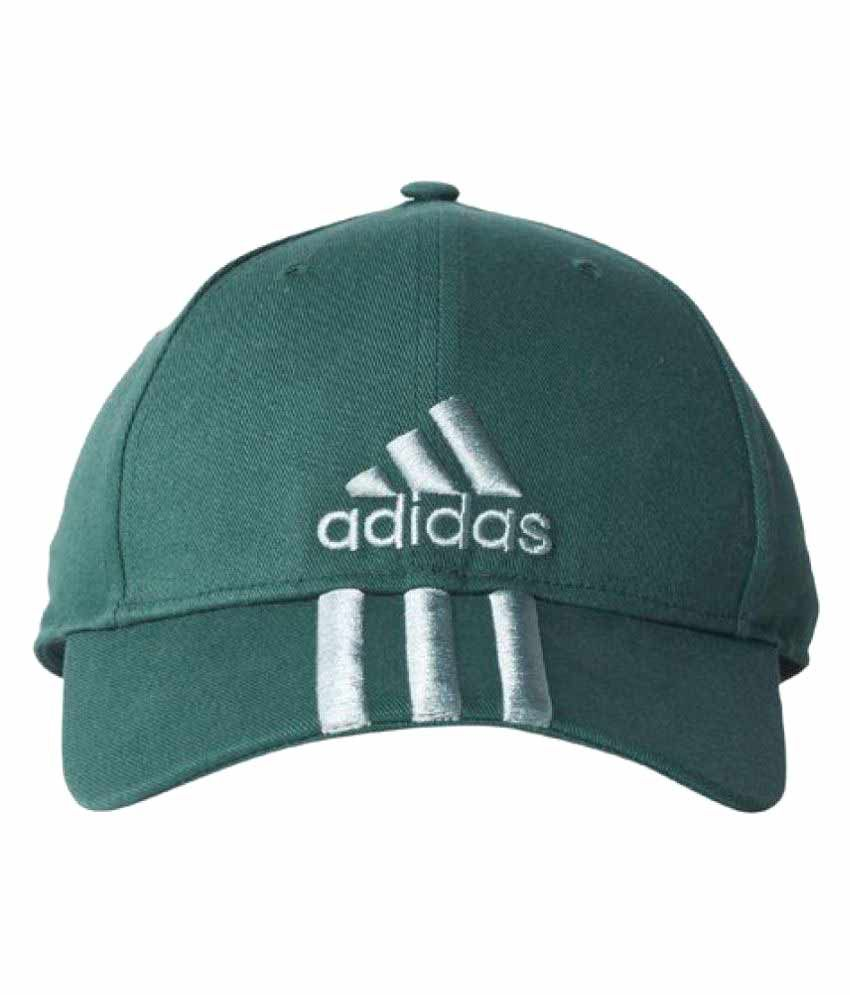 74c46080fd9 Adidas Green Striped Cotton Caps - Buy Online   Rs.