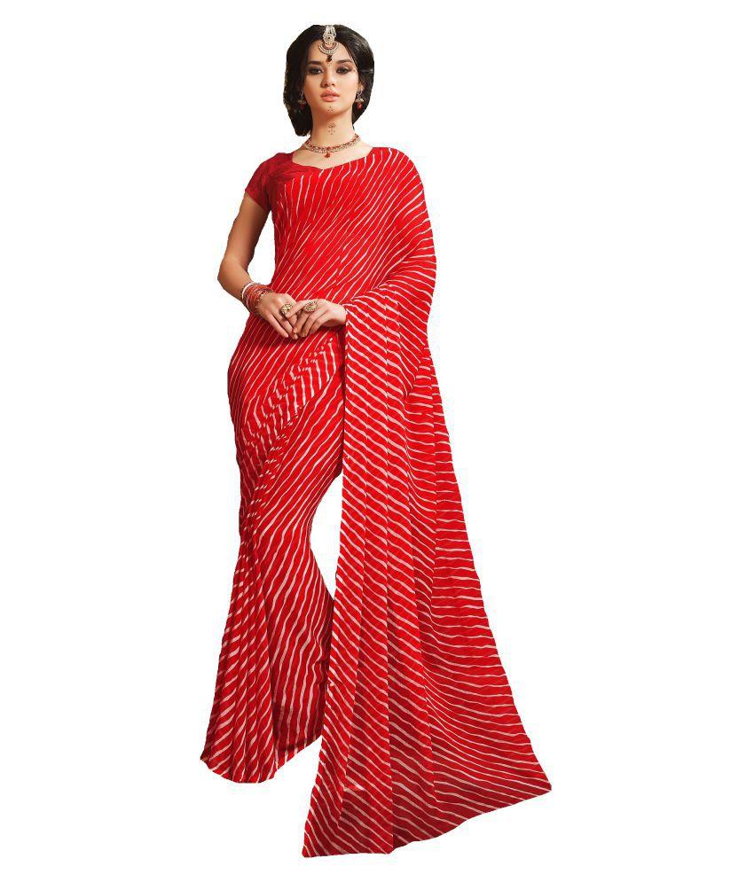 Design Willa Red Art Silk Saree