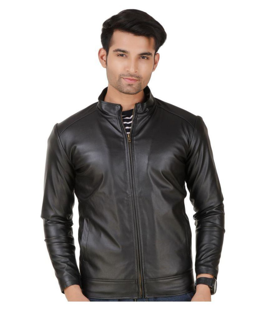 4b1bb64c46 Leather Retail Black Leather Jacket - Buy Leather Retail Black Leather  Jacket Online at Best Prices in India on Snapdeal