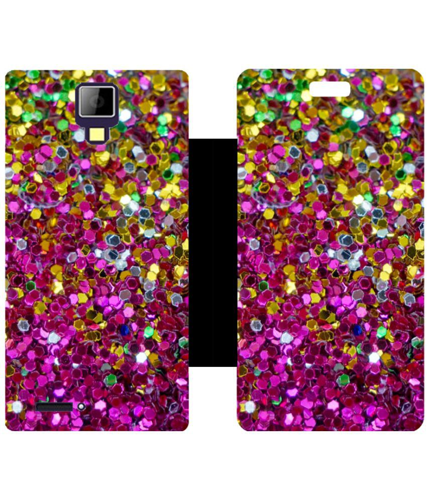 Micromax Canvas Xpress A99 Flip Cover by Skintice - Pink