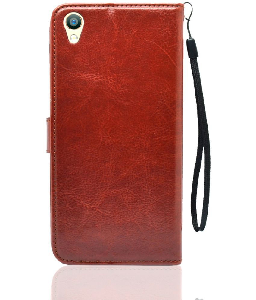 buy online 2766c f57b6 Oppo F1s Flip Cover by BOUNCE BACK - Brown