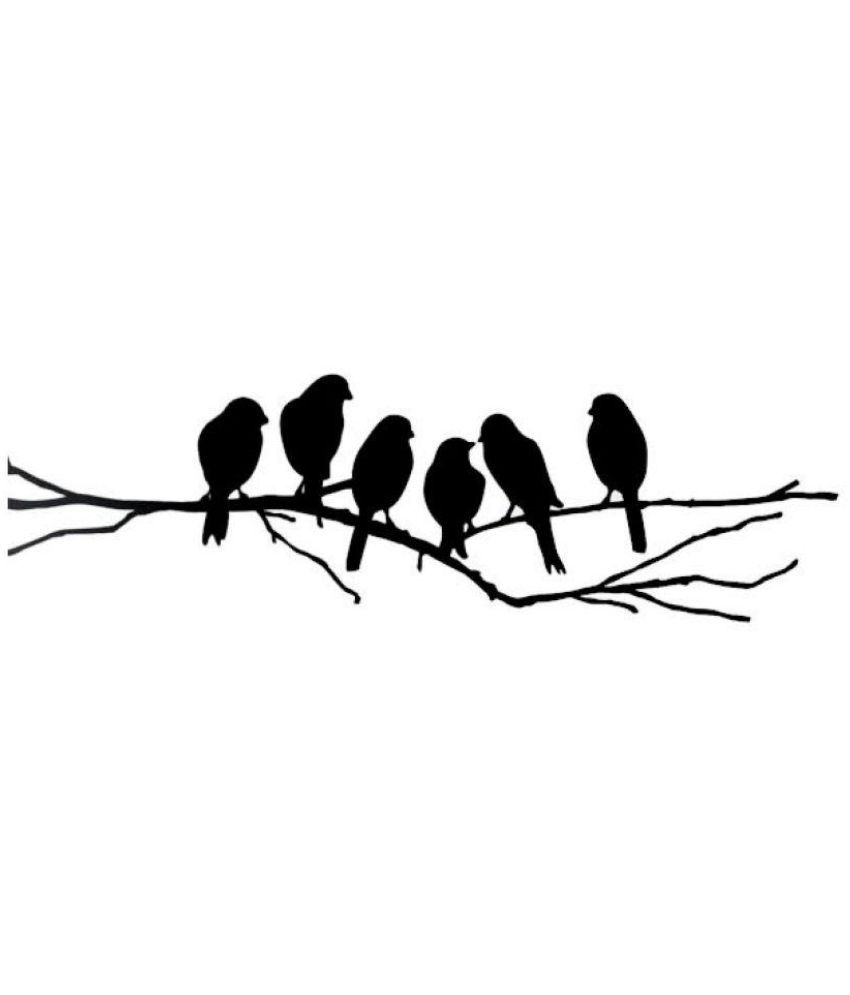 Wall Dreams Birds on a Branch Silhouette PVC Wall Stickers Buy