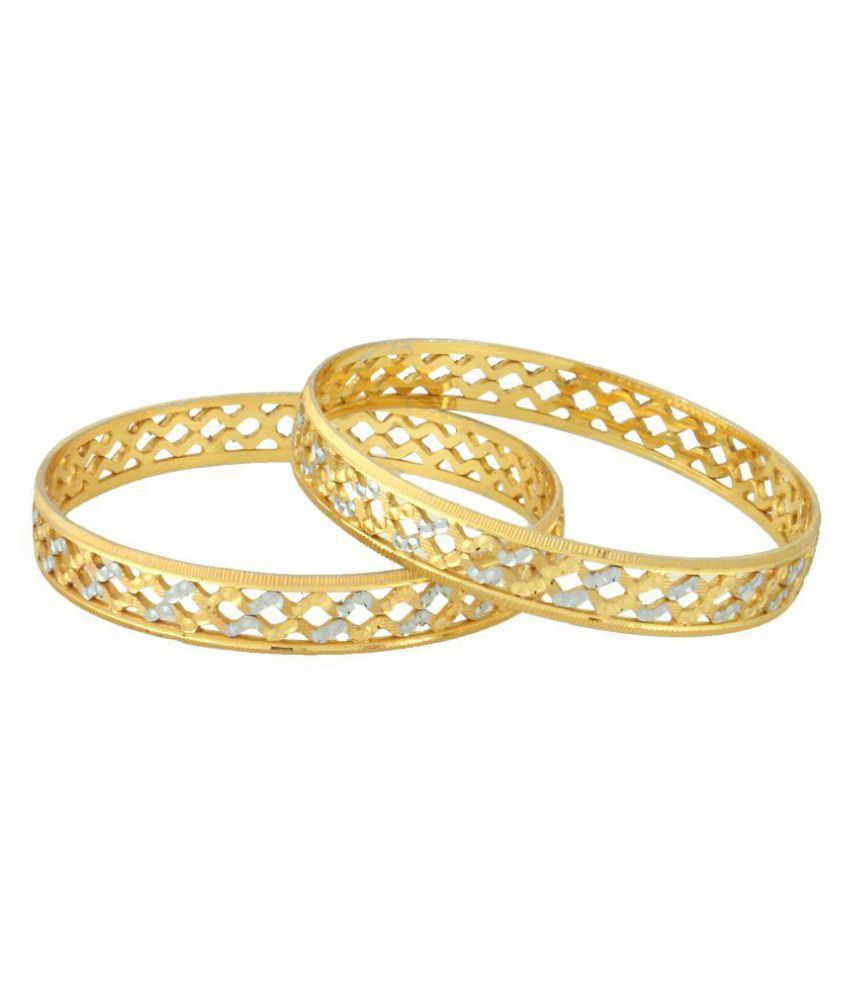 Rein Lifestyles Gold Plated Bangles - 2 Pcs