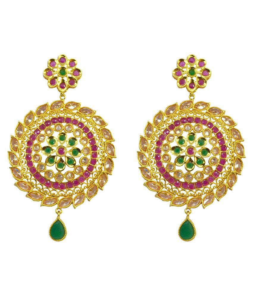 Saloni Fashion JewelleryMulti Brass Hangings Earring