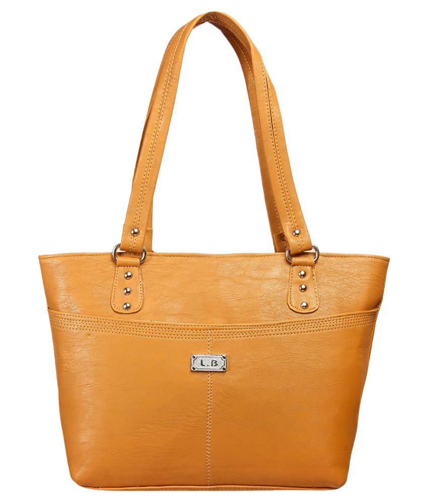 Louise Belgium Brown Artificial Leather Tote Bag