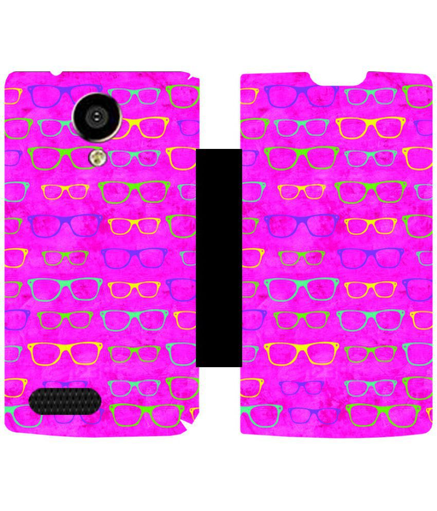 LYF Flame 6 Flip Cover by Skintice - Pink