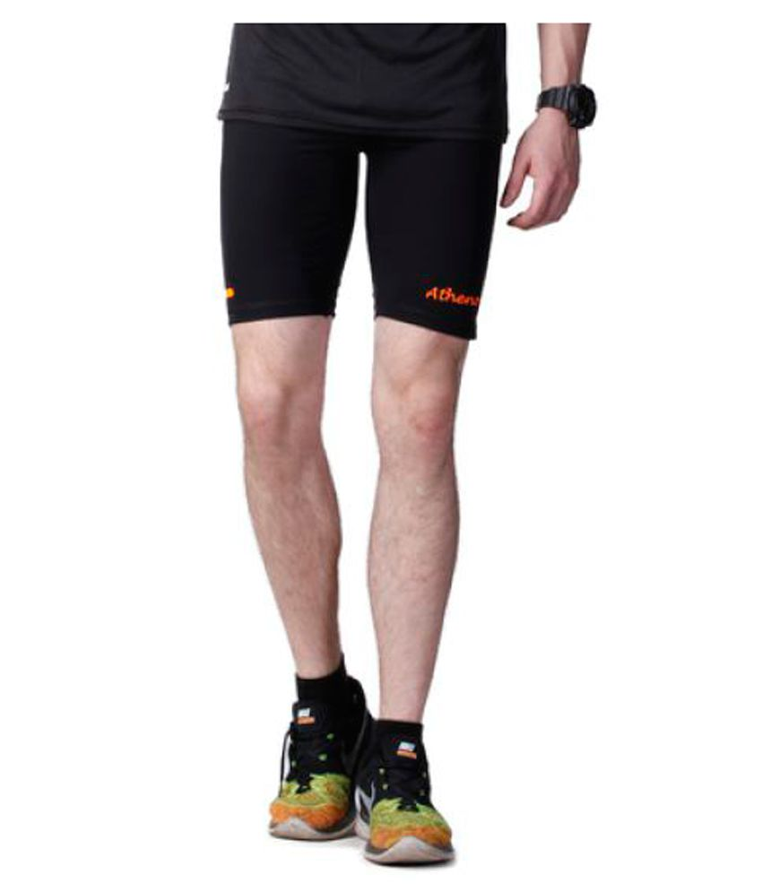 Atheno Mens Sports Gym Tight Fitted Lycra Shorts