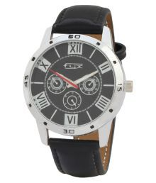 Flix New Style Analog Black Dial Watch For Men