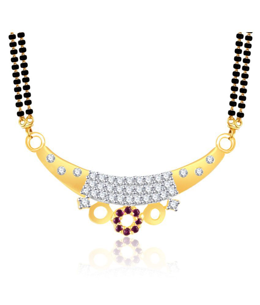 VK Jewels Golden Alloy Mangalsutra