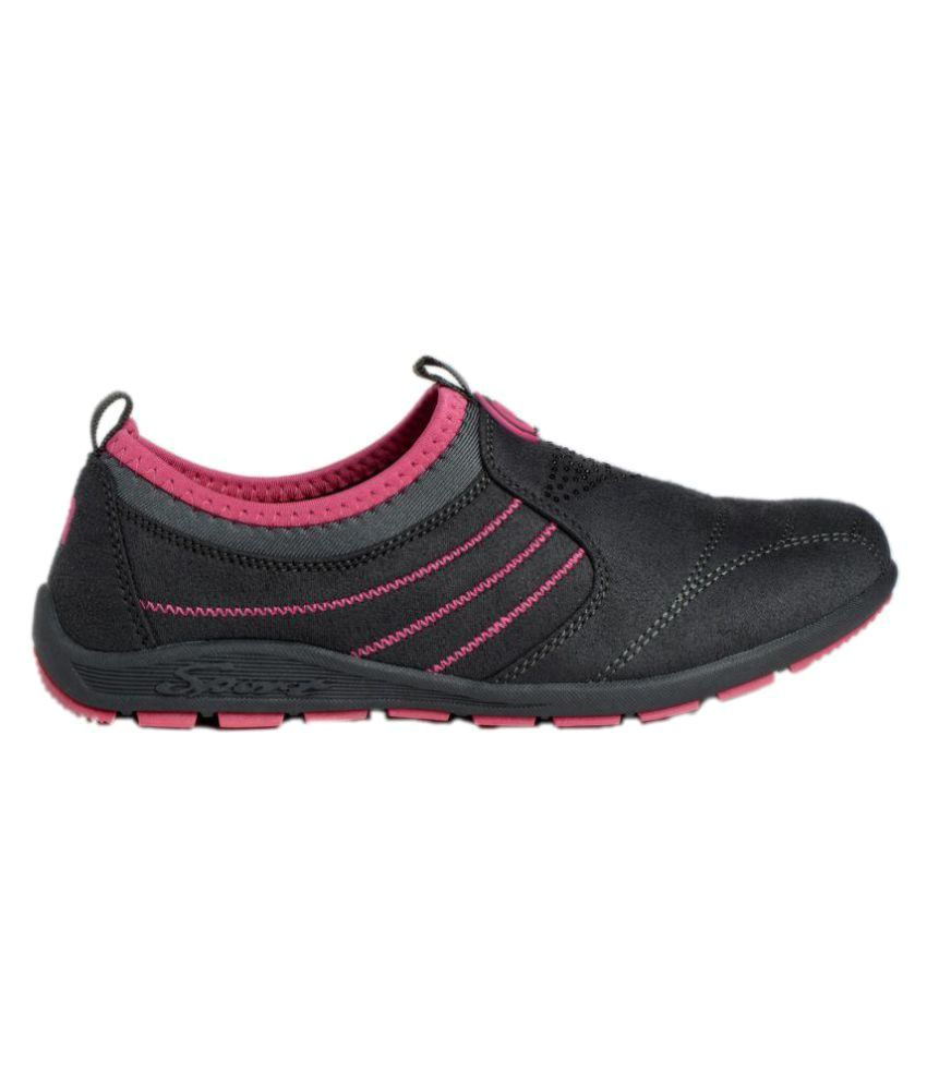 Q'ba Black Walking Shoes  available at snapdeal for Rs.995