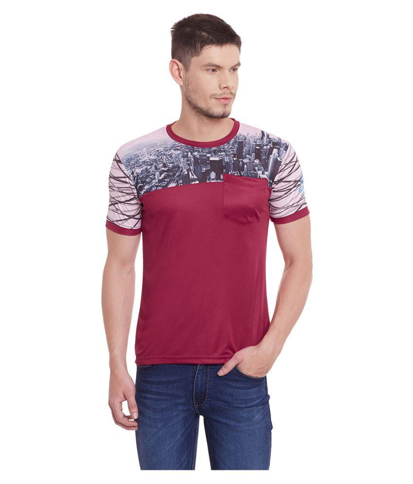 Yepme Maroon Round T-Shirt