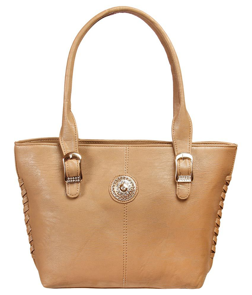 Louise Belgium Brown Artificial Leather Shoulder Bag