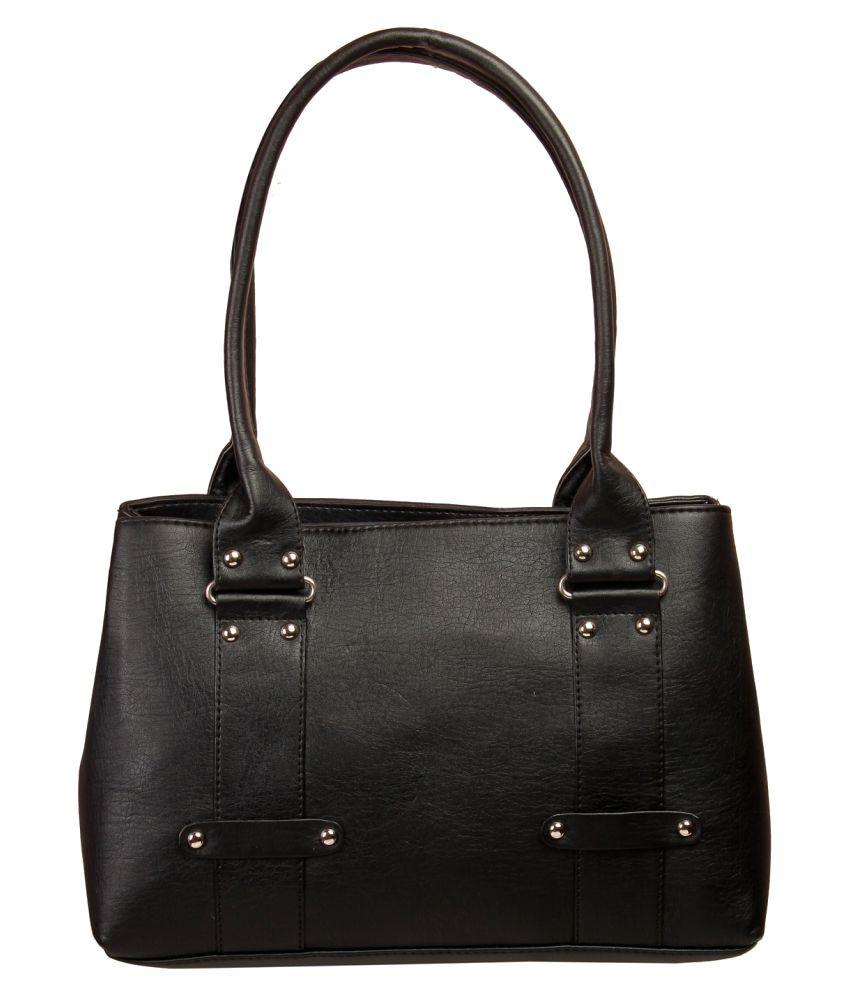 Louise Belgium Black Artificial Leather Shoulder Bag